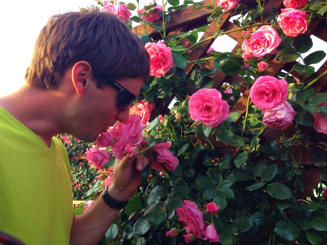 Stoppin to smell the roses ;)