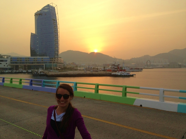 Yeosu expo in the back. Odongdo island.