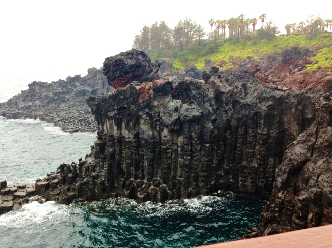 Lava cliffs along the coast