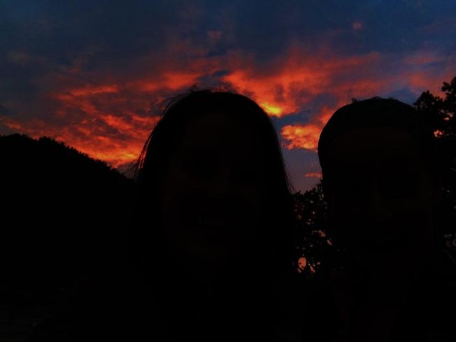 Love the sunset...
