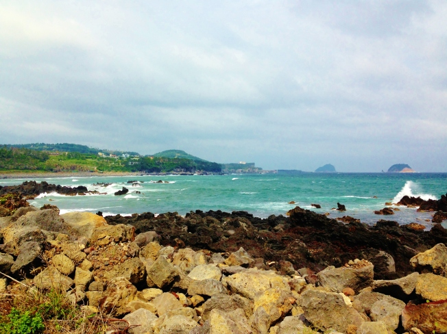 How can you decide to take a bus when you have miles and miles of gorgeous coastline?