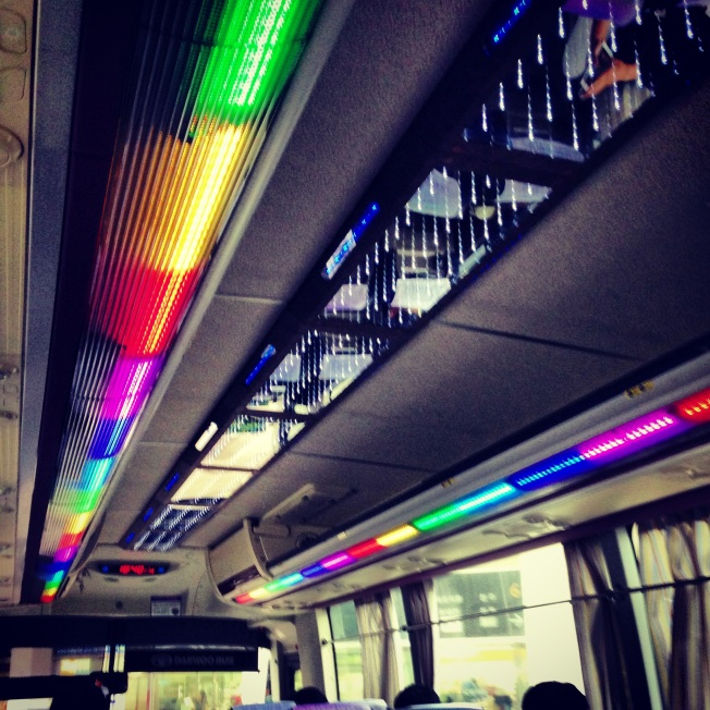 Lights on a bus to visit friends in Mokpo. ;) Normal.