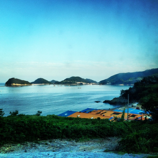 Beautiful views on the bus to Sangju beach