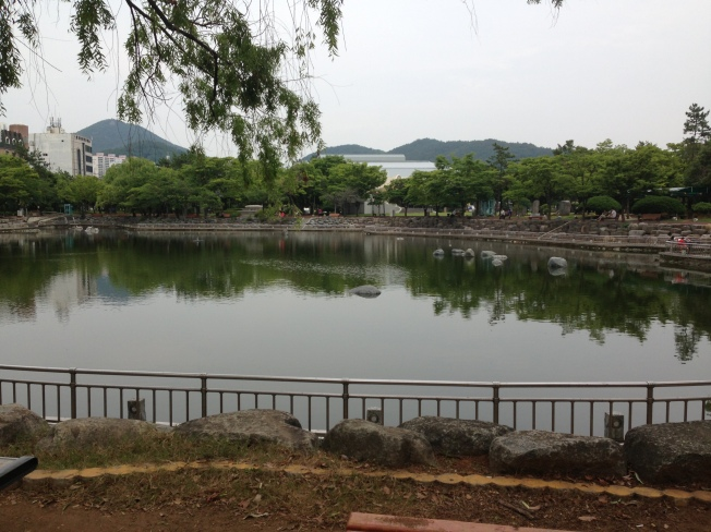 Turtle Park is nestled in a neighborhood near our apartment called Yeocheon. Love watching people here!