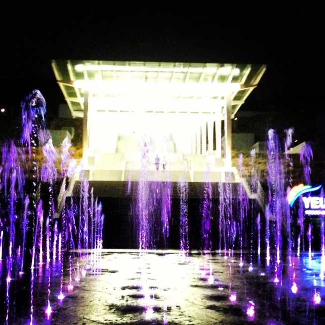 Love the fountains!