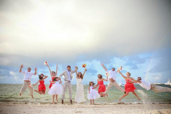 Like I said... always happy at the beach! Our wedding in the Dominican Republic.