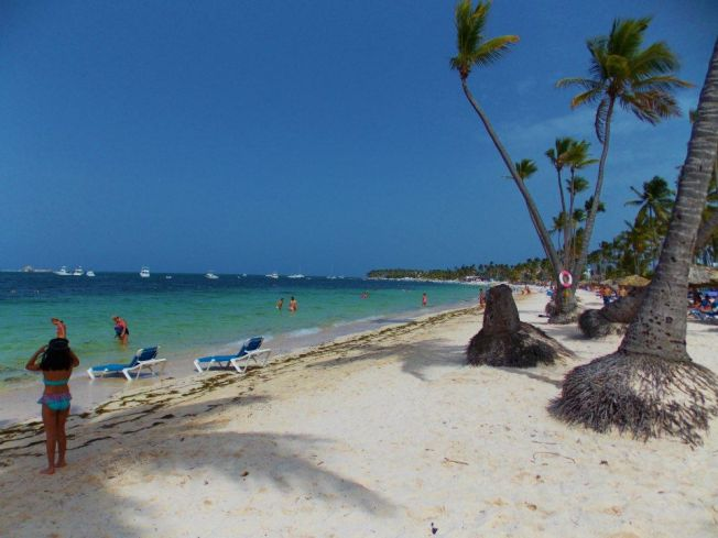 View from the beach in Punta Cana, Dominican Republic!