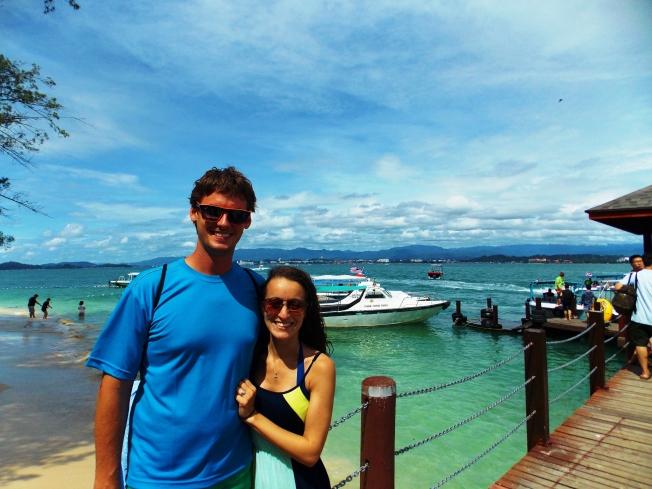 Stop between dives on Sapi island!