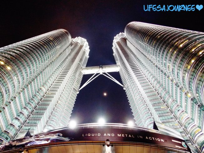 Petronas Towers at night!