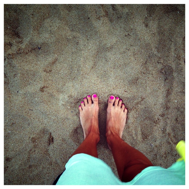 Love the feeling of sand between my toes. Please excuse my crazy tan lines!!!