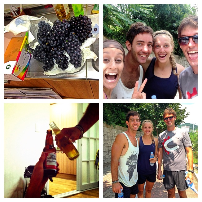 4 friends. A road trip to the middle of Korea. A half marathon AND 18 pounds of grapes.