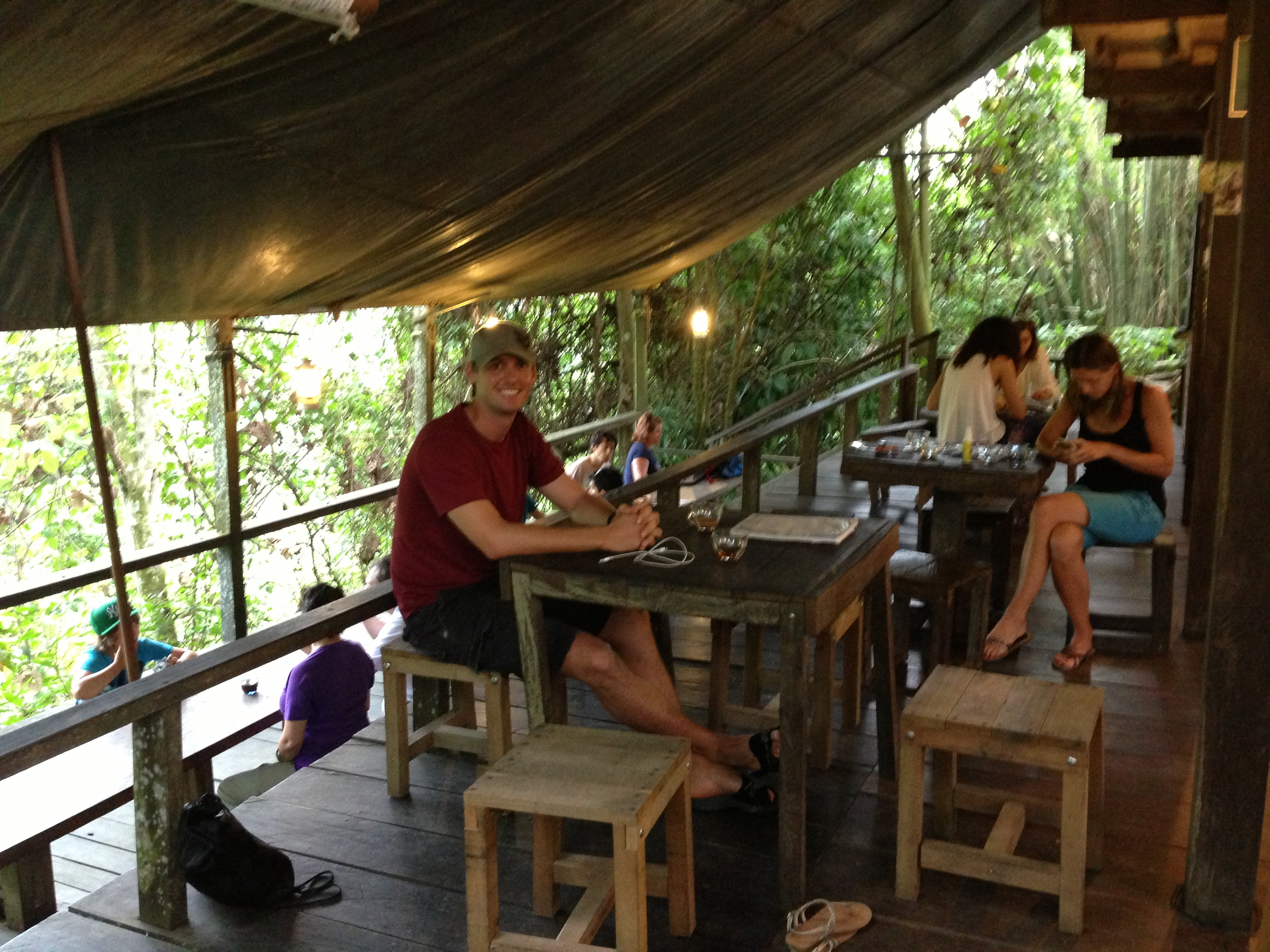 Hangin in the main lodge area. Paganakan Dii Tropical Resort,