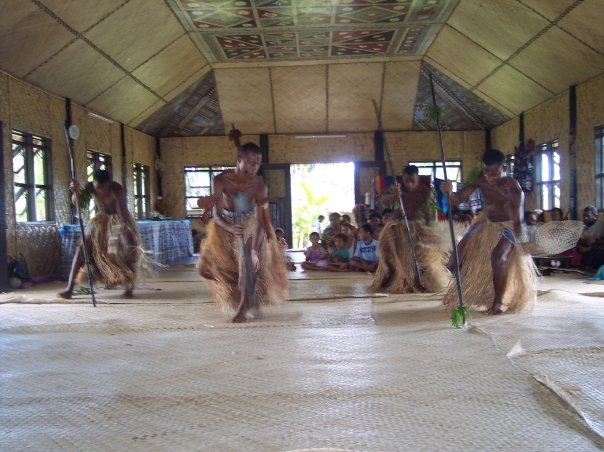 Fijian village dancers.