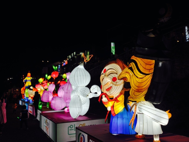 Each festival in Korea had the opportunity to have a lantern representing their city's specific festival